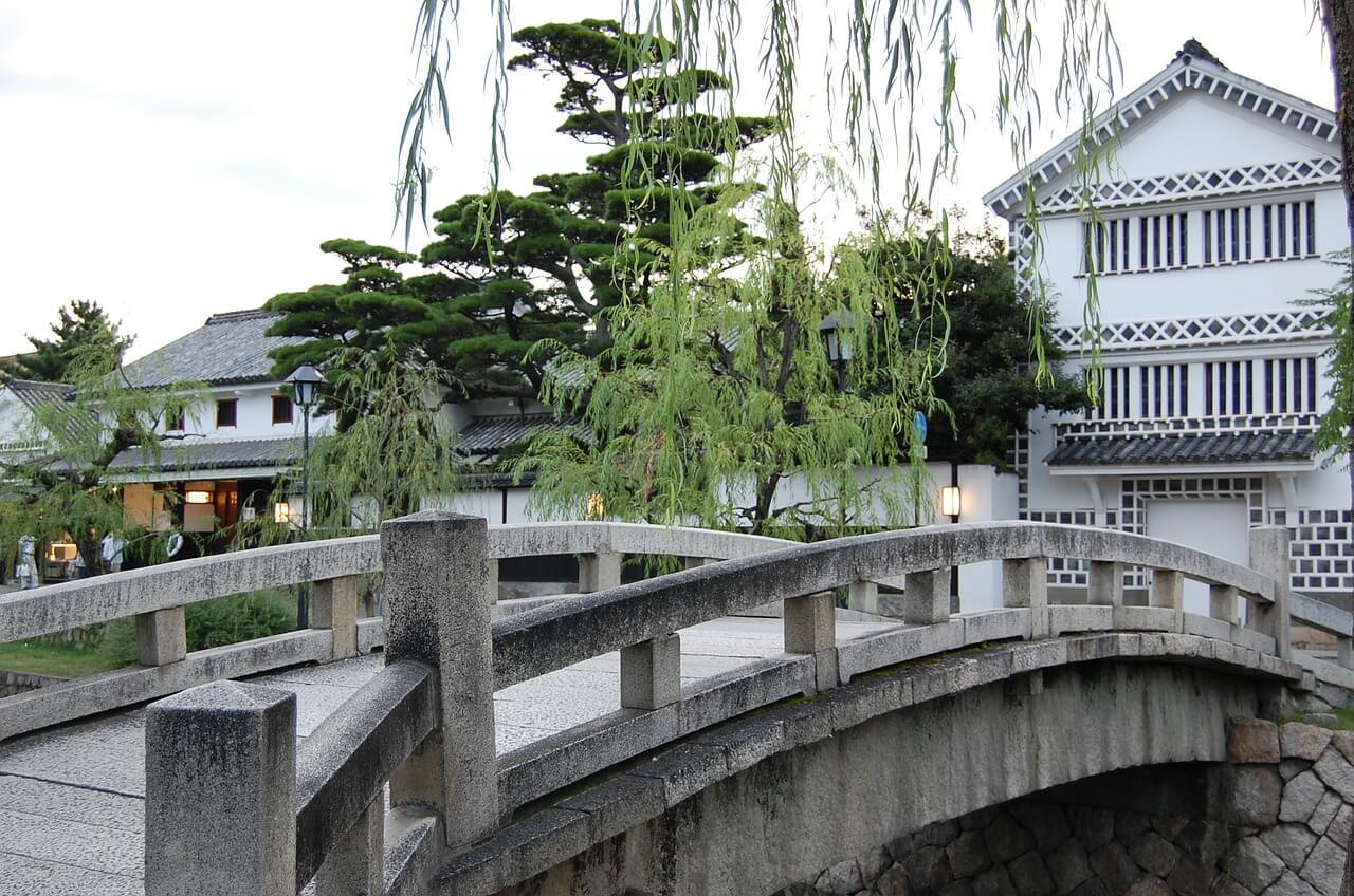 倉敷の美観地区の写真